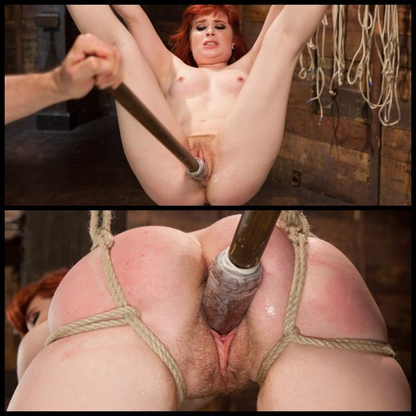 (27.03.2014) Tight Bondage and Multiple Squirting Orgasms for 18 Year Old Redhead Slut