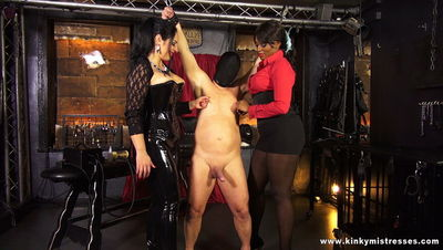 Kinky Mistresses - Avas and Ezadas Milking Machine
