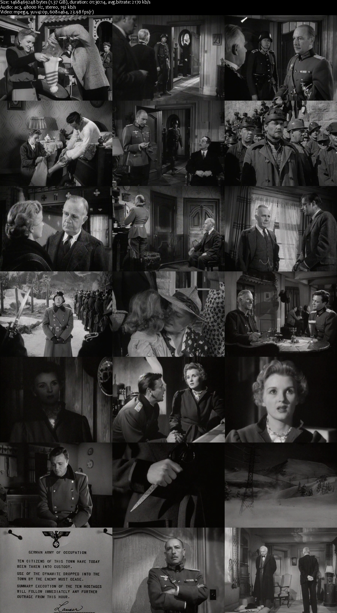 The Moon Is Down (1943) Dvdrip [1.37GB]