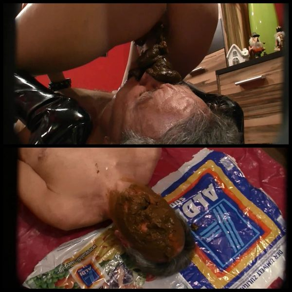 Slave Dirty-Games Shit on – Sklave Dirty-Games angeschiessen – Femdom Scat, Shitting,