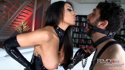 Mistress tangent fills his hungry holes with femdom torment 3