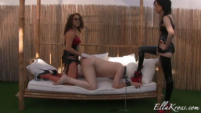 Ella Kross - Strap-On Sodomy and shoe Worship featuring Anna Myst!