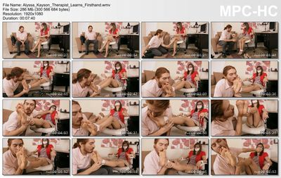 Foot Fetish Petite - Therapist Learns Firsthand Alyssa Kayson