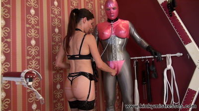 Kinky Mistresses - Mistress Susi - Fun With The Rubberdoll and The Bisexual Slave