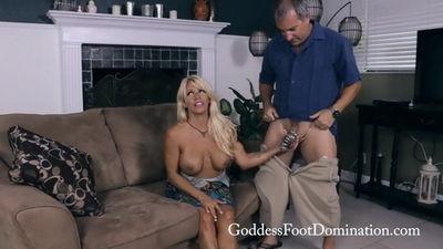 Goddess Foot Domination - I Cum First Goddess Gina