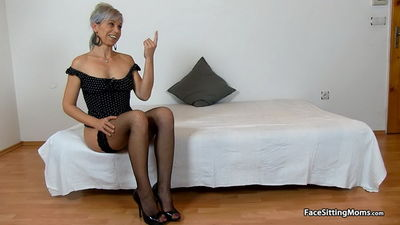 FaceSittingMoms.com - High heels czech cougar Beate dirty old young facesitting