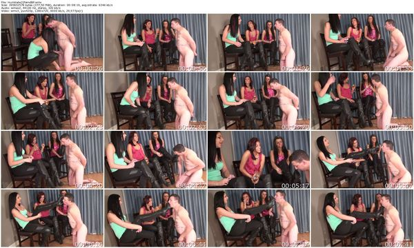 Christina Crystal and Mia - Humiliate 25 Year Old Cuck Virgin (Part 2)
