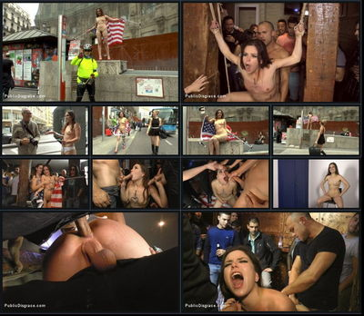 Public Disgrace - Aug 28, 2015 - Juliette March, Mona Wales and Xavi Tralla