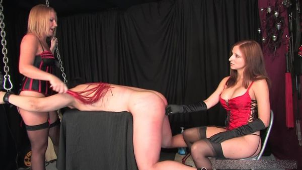 AmberDungeon - Mistress Ashley, Mistress Paris - Split His Hole - Part 1 of 3