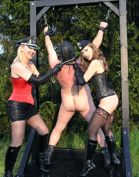 TheEnglishMansion - Mistress T, Mistress Sidonia - Garden Whipping part 1-2 update