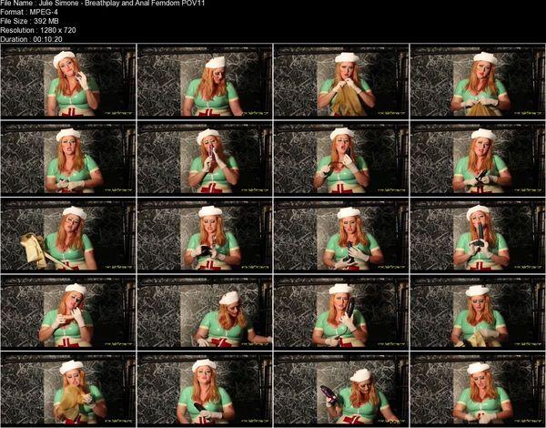 Julie Simone - Breathplay and Anal Femdom POV