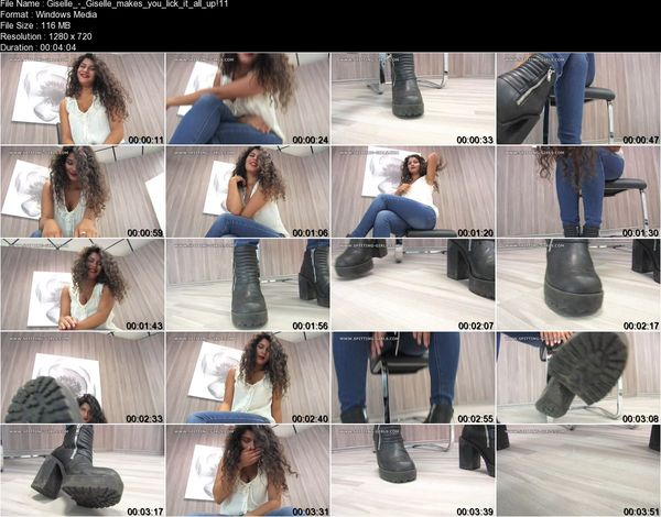 Clips4sale - Giselle - Giselle makes you lick it all up!