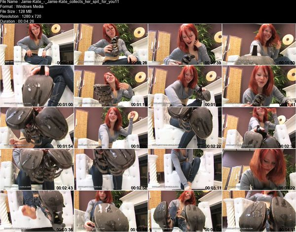 Clips4sale - Jamie-Kate - Jamie-Kate collects her spit for you