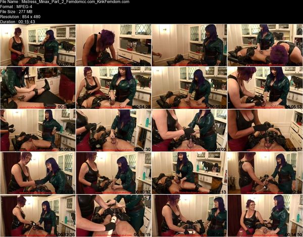 AliceInBondageLand - Mistress Minax - Chastity Urethral Sounding and Anal Humiliation Rubber Threesome part 1-2