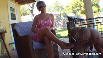 Goddess Foot Domination - Caged Foot Slave Denied Goddess Brianna