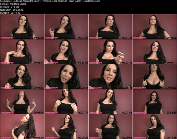 Goddess Alexandra Snow - Hypnosis Gets You High - Brain Candy