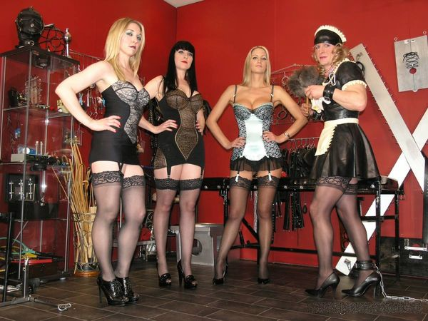 TheEnglishMansion - Miss Jessica, Mistress Nikki, Mistress Sidonia - Rubber Maid Trouble complete