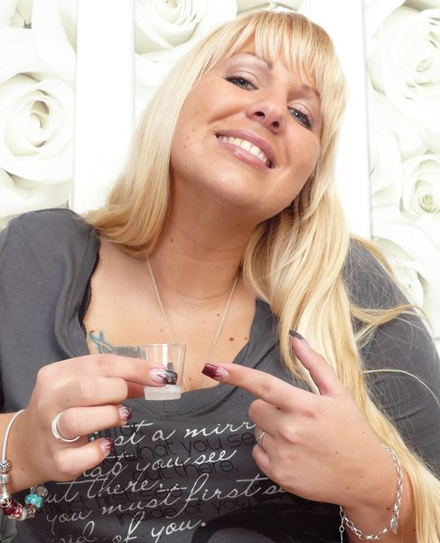 Spitting-Girls - Blonde BBW Cathy - You're really thirsty?
