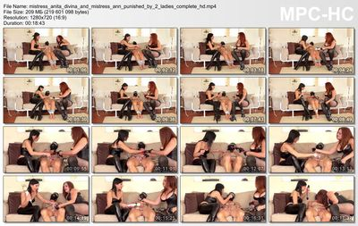 Kinky Mistresses - Mistress Anita Divina And Mistress Ann - Punished By 2 Ladies