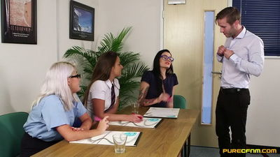 Pure CFNM - Office Disciplinary Amirah Adara, Carla Mai, Lu Elissa