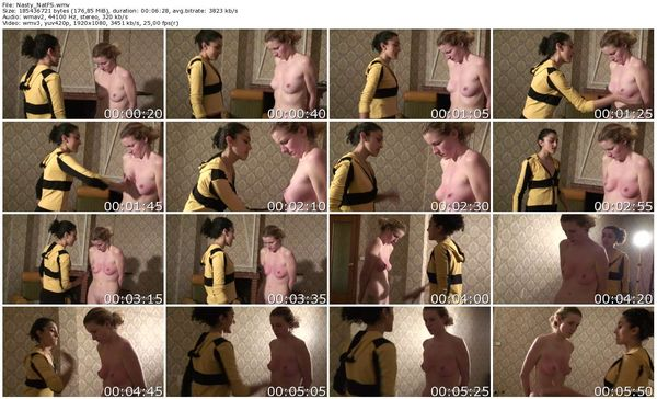 FemdomShed - Nasty Natascha - Slapping the sluts skinny white tits until they glow red