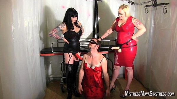 MistressMayaSinstress - Maya, Julie - Fucking her Slave