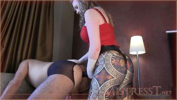 MistressT - Hot Mistress Fuck A Slave With A Big Strapon