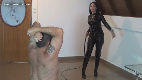 Desire-Her - Catsuit Boots And Bullwhip