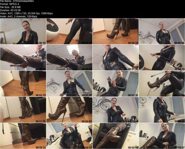 German Dirty Talk  - Lady MoniQue Willst Du mit meinen Stiefeln spielen