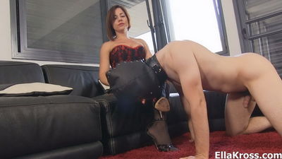Ella Kross - Slave Mouth Fucking with Stiletto