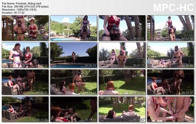 The English Mansion - Miss Vivienne lAmour, Switch Zara - Poolside Riding