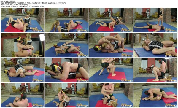 EroticFemaleDomination - Mexican Wrestler Gave Nikky Thorne A Stretching