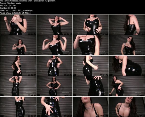 Goddess Alexandra Snow - Black Latex JOI