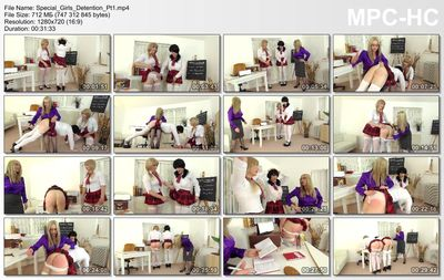 The English Mansion - Miss Eve Harper, Natalie Goth, Tiffany Real Doll - Special Girls Detention Pt1