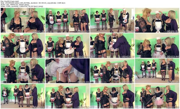 TheEnglishMansion - Lady Nina Birch, Madam Helle - Punished Maids All In A Row Pt1 part 1