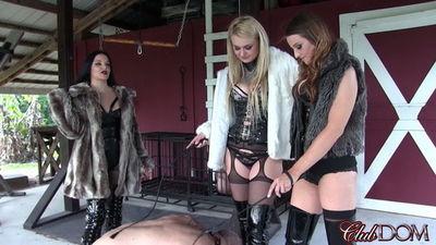 Clubdom - Natalya, Paris, & Michelle Boot Licking