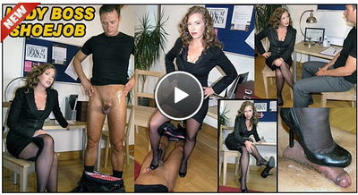The English Mansion - Mistress T - Lady Boss Shoejob Humiliation