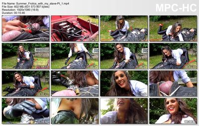 Dominatrix Annabelle - Summer Frolics with my slave - Pt 1