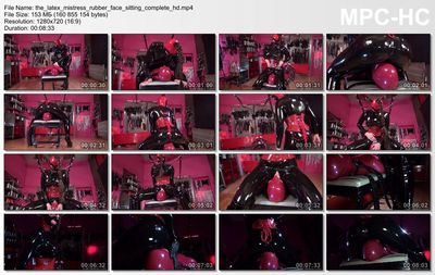 Kinky Mistresses - The Latex Mistress - Face Sitting