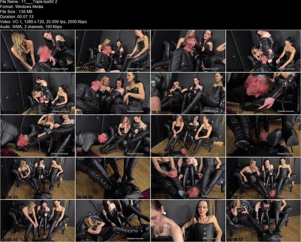 Chateau-cuir - Triple leather worship part 2