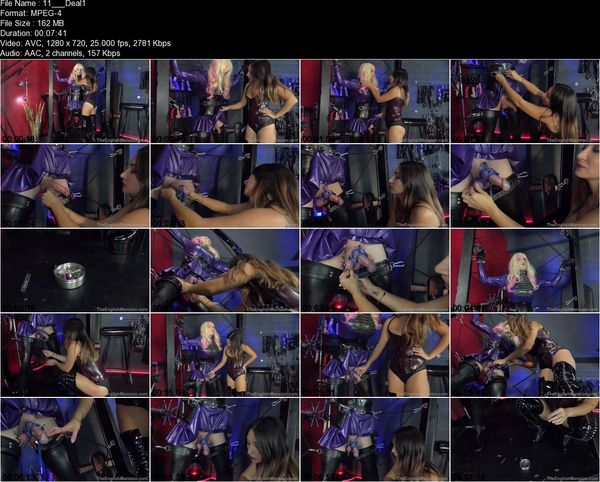 TheEnglishMansion - Mistress Roxy Jezel - Dealing With Dollys Bulge Part 1-3