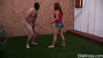 Ella Kross - Putting My Human Punching Bag to Use!