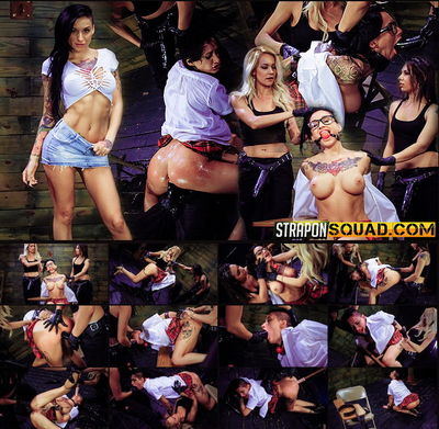 Strapo Squad - May 27, 2016 - Naughty Schoolgirl Alby Rydes is Punished by Mila Blaze & Isa Mendez
