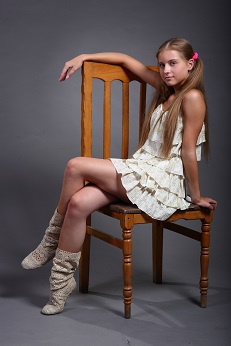 Teen Model photo shoot dressed as a cowboy!