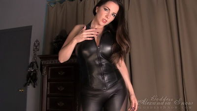 Goddess Alexandra Snow - Leather Tit Worship