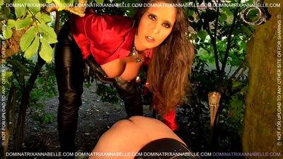 Dominatrix Annabelle - Autumnal Strap-on Erotica!