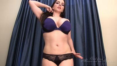Goddess Alexandra Snow - Belly Tease