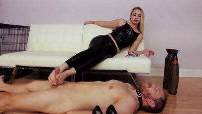Goddess Foot Domination - Sierra Milks Her Footslave