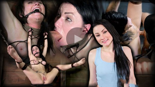 (14.02.2014) SB – Veruca James shackled & chained, facefucked with brutal deep throating, roughly fucked and breeded