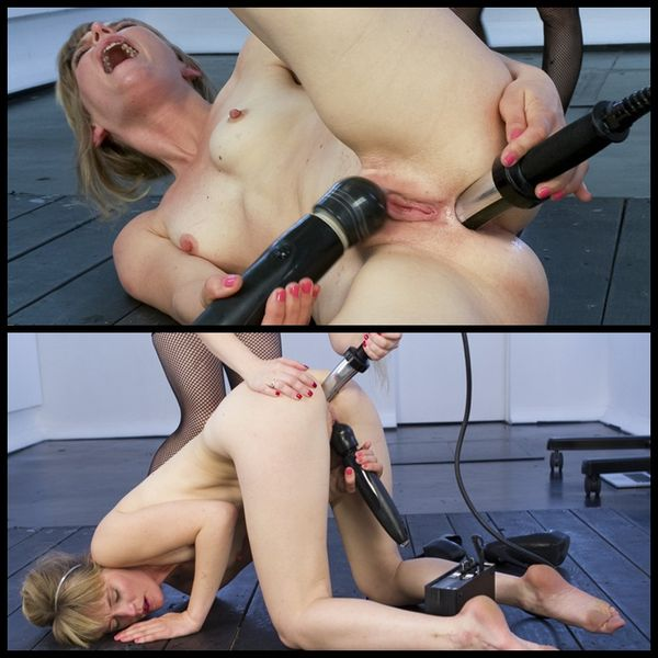 (20.03.2014) Amateur Blonde Takes Electric Ass Fucking and Tickling Live